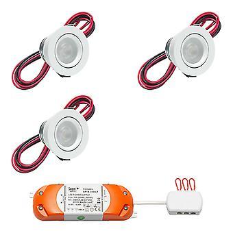 Scharfe LED Badezimmer Einbaustelle Ferro tiltable | Warmweiß | Satz von 3, 4 oder 5 Stück