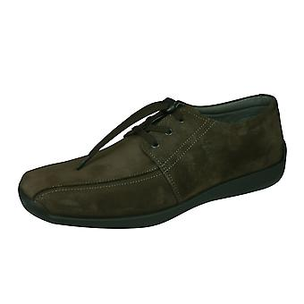 Sledgers Alberto Mens Lace-up Suede Leather Shoes - Brown