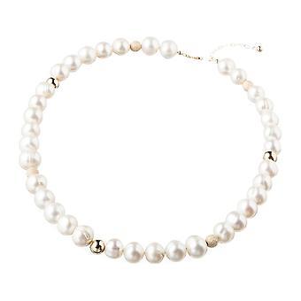 Gemshine halskjede beaded halskjede med 9,5 mm kultivert perler 925 sølv eller forgylt