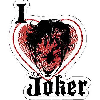 Sticker - DC Comic - Joker I Heart New Gifts Toys s-dc-0178