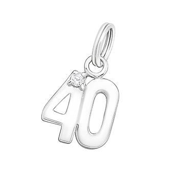 Forty - 925 Sterling Silver Charms With Split Ring - W16240x