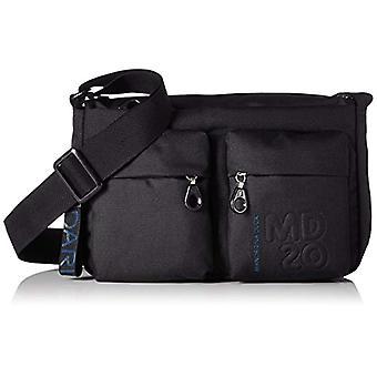 Mandarin Duck Md20 Minuteria Black Women's Shoulder Bag (Black) 9x18x28 centimeters (B x H x T)