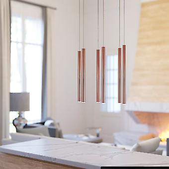 Industrial Pendant Home Decor Ceiling Light Chandelier 6 Pendant Rectangular Canopy