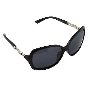 Solglasögon Kvinnors Polaroid Oval - Silver/ Svart med gratis brillenkokerS356_3