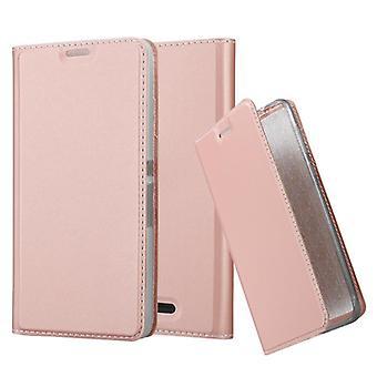 Cadorabo Hülle für Sony Xperia E3 hülle case cover - Handyhülle mit Magnetverschluss, Standfunktion und Kartenfach – Case Cover Schutzhülle Etui Tasche Book Klapp Style
