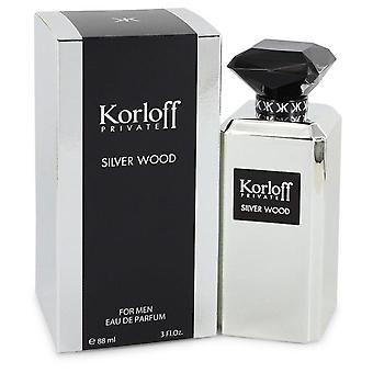 Korloff silver wood eau de parfum spray by korloff 544217 90 ml