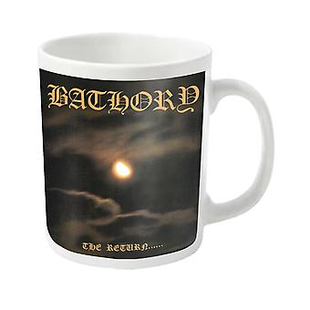 Bathory Mug The Return band logo new Official White
