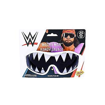 Kostiumy imprezowe - Sun-Staches - Macho Man White Frame Teeth sg3332