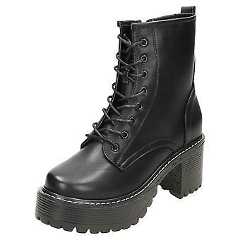 Koi Footwear Chunky Ankle Lace Up Platform Gothic Boots