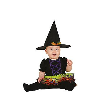 Filles Toddlers Tutu Colour Witch Halloween Fancy Dress Costume