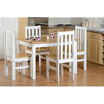 Ludlow (1+4) Dining Set - White/oak