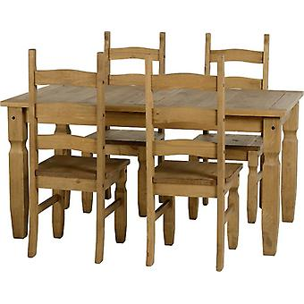 Corona 5' Dining Set - Distressed Gewachste Kiefer