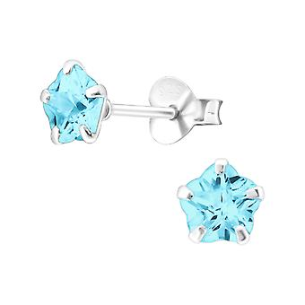 Flor - 925 Sterling Silver Classic Ear Studs - W17550x