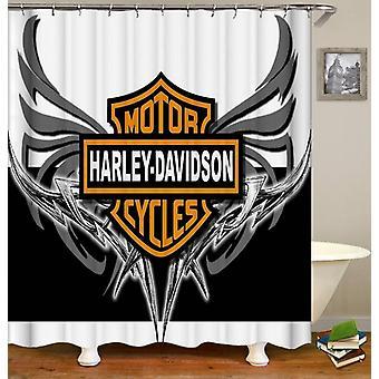 Harley Davidson metalen vleugels douche gordijn