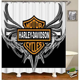 Harley Davidson Metal Wings Shower Curtain