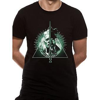 Les crimes des hommes de Grindelwald reliques de la mort Split T-Shirt