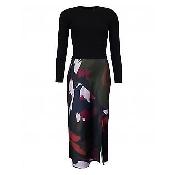 Ted Baker Knitted Top Abstract Print Skirt Dress