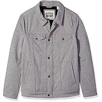 Levi ' s men ' s Soft Shell Classic TRUCKERJACKA (Regular, Ljung grå, storlek 2,0