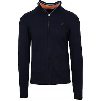GANT GANT Zip Navy Sweatshirt