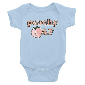 365 Printing Peachy AF Baby Bodysuit Gift Sky Blue Baby Birthday Baby Jumpsuit