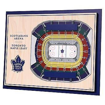 YouTheFan Wood Wall Decoration Stadium Toronto Maple Leafs 43x33cm