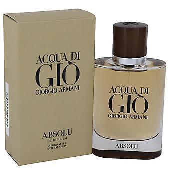 Acqua di gio absolu eau de parfum spray by giorgio armani 541221 75 ml