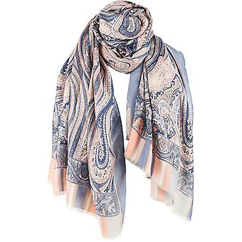 Michelsons of London grote Paisley sjaal-blauw/roze