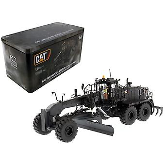 CAT Caterpillar 18M3 Motor Grader Special Edition in Black Onyx with Operator High Line Series 1/50 Diecast Model par Diecast Masters