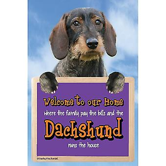 Faithful Friends Collectables Welcome 3d Hang-up Dachshund (rough Coat)
