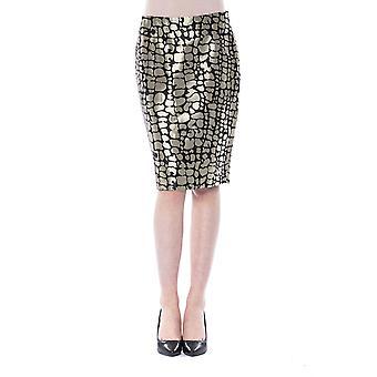 Women's Gold Byblos Skirt