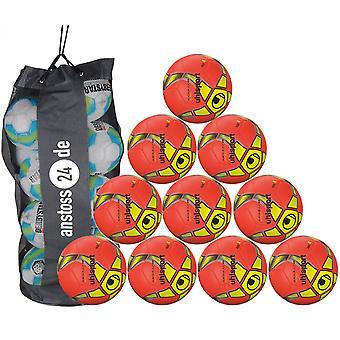 10 x Uhlsport training ball Futsal - MEDUSA ANTEO includes ball sack