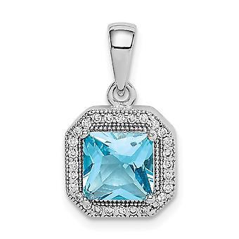 925 Sterling Argento Rhodium Placcato Blu e Chiaro C'è Cubic a diamante dimago perlacciati Gioielli Per