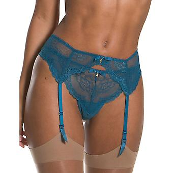 Gossard 7712 Women's Superboost Lace Ink Blue Floral Suspender Belt