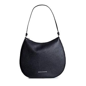 ARMANI EXCHANGE 942636CC723 Black Women's shoulder bag (BLACK (BLACK - BLACK 00020)) 28x8x31.5 cm (B x H x T)