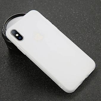 USLION Ultraslim iPhone XR Silicone Case TPU Case Cover White - Copy
