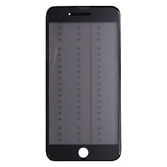 4 in 1 schwarz Top Glas & Rahmen für iPhone 8 Plus | iParts4u