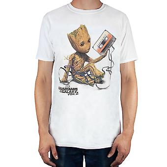 Marvel Guardians of the Galaxy T Shirt Mens Vol 2 Groot Tape Top