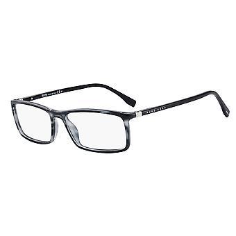 هوغو بوس 0680/N 2W8 نظارات القرن الرمادي