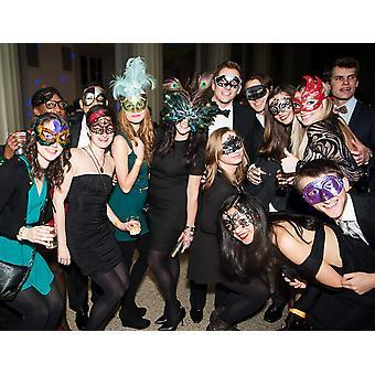 Masquerade Mask for Women Shiny Rhinestone Venetian Party Prom Ball Metal Mas...