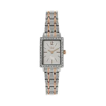 Radley Watches Ry4293 Primrose Hill Square Silver & Rose Gold Crystal Dial Watch