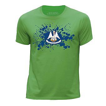 STUFF4 Guttens rund hals T-skjorte / / Louisiana USA stat flagg feilindikator/grønn