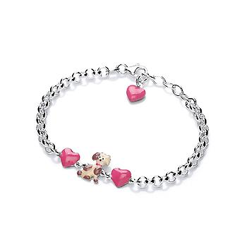 David Deyong Children's Sterling Silver Dog's Love Bracelet
