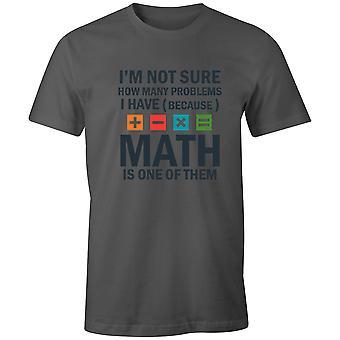 Boys Crew Neck Tee Short Sleeve Men's T Shirt- Math Problem