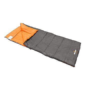 Milestone Envelope 3 Season Sleeping Bag Single Grey 210 x 85cm