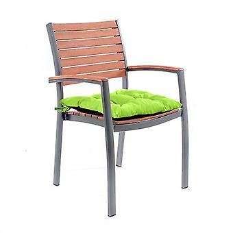 Gardenista silla de jardín cojín almohadillas con lazos de asiento - interior / exterior resistente al agua y retardante contra el fuego (1 piezas, cal)