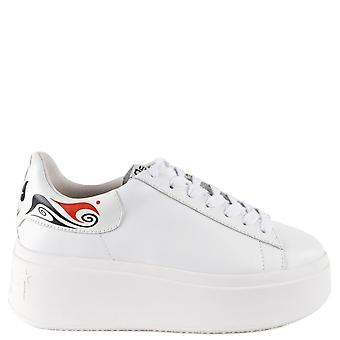 Ash MOBY MASK Platform Trainers White Leather
