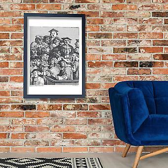 William Hogarth - Studenten bei der Vorlesung Poster Print Giclee