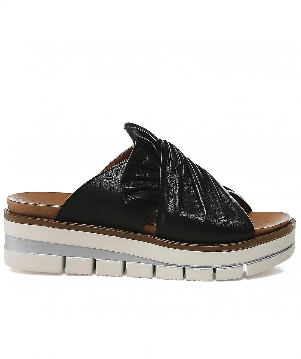 Grunland Leather Wedge Sliders