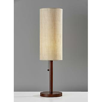 "8"" X 8"" X 31"" Walnut Wood Bordlampe"