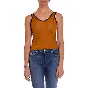 Akep Ke937sn Kvinnor's Orange Bomull Top